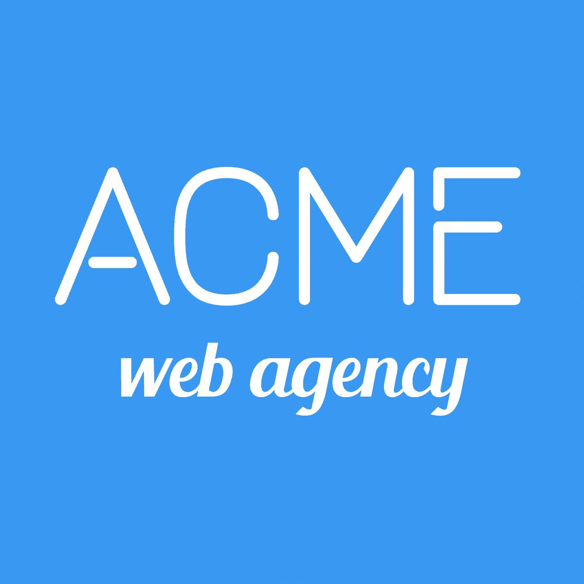Acme web agency